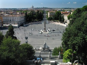 Piazza del Popolo from the Pincio