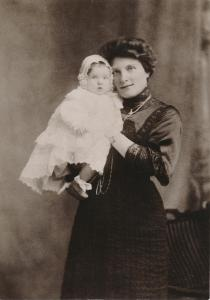 Agnes Mary Purssell with Charles (query)