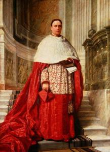 DON279045 Cardinal Edward Howard (oil on canvas); by English School, (19th century); 143.5x105.4 cm; His Grace The Duke of Norfolk, Arundel Castle; English, out of copyright